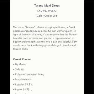 Anthropologie Dresses - ‼️Anthropologie Tarana Maxi Dress M‼️